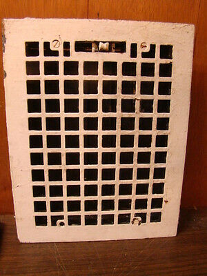 Vintage 1920S Cast Iron Heating Grate Square Design 14 X 11 B
