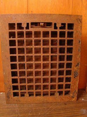 Vintage 1920S Cast Iron Heating Grate Square Design 14 X 12 B