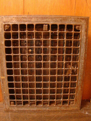 Vintage 1920S Iron Heating Grate Square Design 14 X 12 B