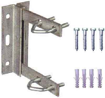 "Aerial Tv Wall Mount Bracket 6"" X 6"" Galvanised Including Fixings"