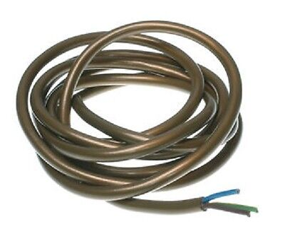 3 Core Gold Lighting Cable Flex Wire 0.5Mm 3 Amp Priced Per Meter