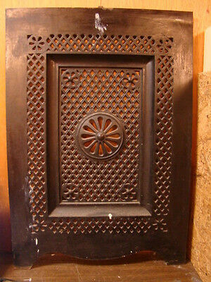 Antique Late 1800's Cast Iron Ornate Fireplace Cover Very Ornate Design Y