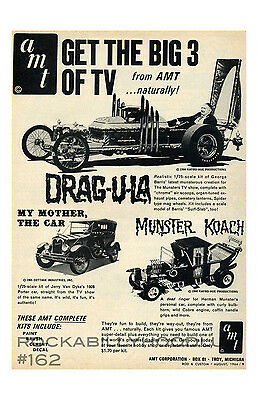 New Hot Rod Poster 11x17 Barris Dragula Car The Munsters Coach AMT model kit ad
