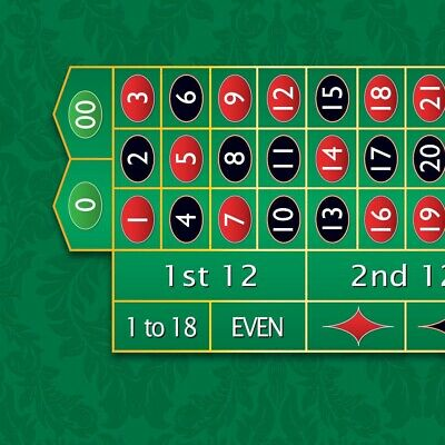 NEW Monaco - Roulette Table Layout - Green - MADE IN THE USA