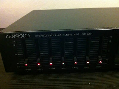 Kenwood Stereo Graphic Equalizer Ge-291 (7) Band-Free Shipping!