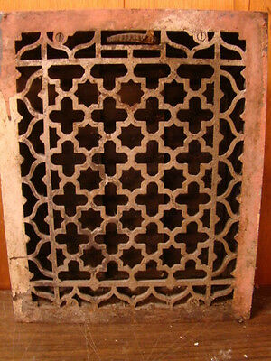 Antique Late 1800's Cast Iron Heating Grate Unique Ornate Design 16.75 X 13.75