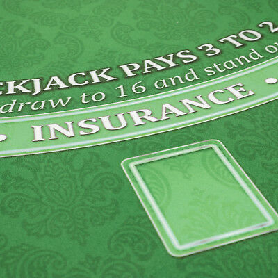 NEW Classic Green Blackjack Layout - MADE IN THE USA