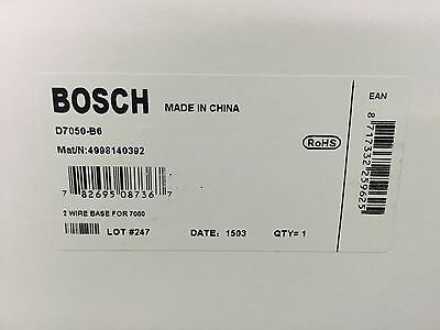 New Bosch D7050 B6 Two-Wire Detector Base [Used W/ D7050,d7050Th] (5+ In Stock)
