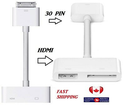 Digital AV HDTV Adapter 30 pin dock to HDMI with Charging for apple iPad  iPhone