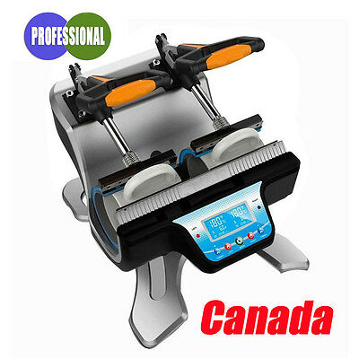 110V Sublimation Mini Double Station Mug Cup Heat Press Machine Canada Seller