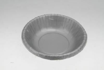 144 x Party Silver Paper Bowls reduced to clear Bulk Wholesale lot xxiv
