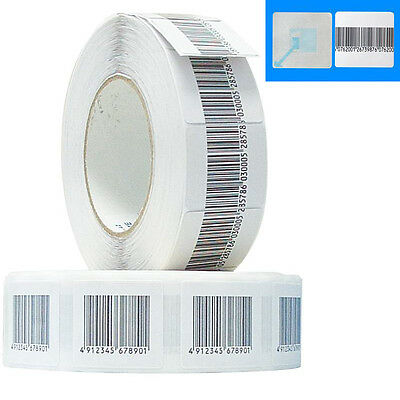 1,000pcs Checkpoint Store EAS RF 8.2 MHz Soft Label Tags Barcode Stickers 4x4cm