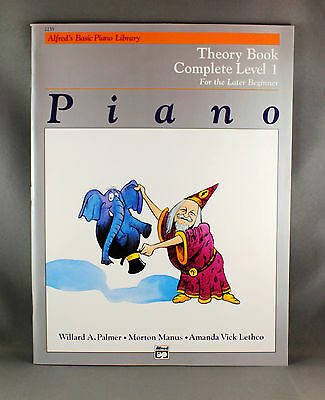 Alfred's Basic Piano Library Theory Book Complete Level 1 - Brand New