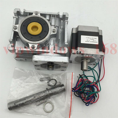 Worm Gearbox 7.5:1 10:1 15:1 30:1 50:1 60:1 Nema23 L56mm Stepper Motor Reducer