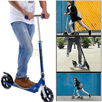 Pro Stunt Trick Push Scooter w/Fixed Bar 360 Degree for Adult Kids Children Blue