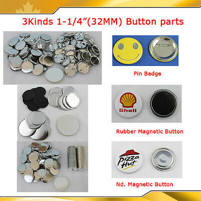 "3 Kinds Badge Materials for 1-1/4""(32mm) Badge Button Maker Machine  BIG SALE!!"