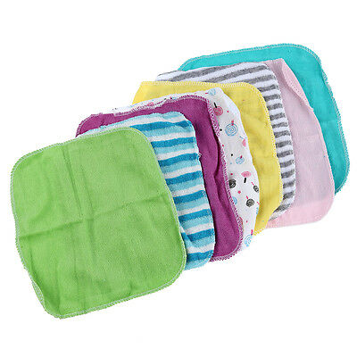 5x(Baby Face Washers Hand Towels Cotton Wipe Wash Cloth 8pcs/Pack HY