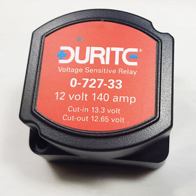 0-727-33 12V 140A 140 Amp Durite Split Charge Voltage Sensitive Relay - Campers