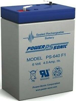 Lervia Vaccum 6v 4.5ah replacement sealed lead acid Battery POWERSONIC