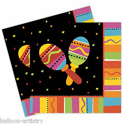 16 Wild West Mexican Fiesta Fun Summer Party 33cm Paper Luncheon Napkins