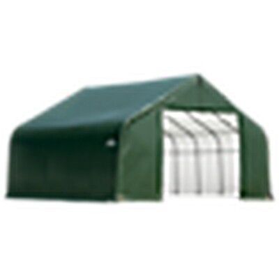 12X20X9 Barn Shelter, Green Cover New