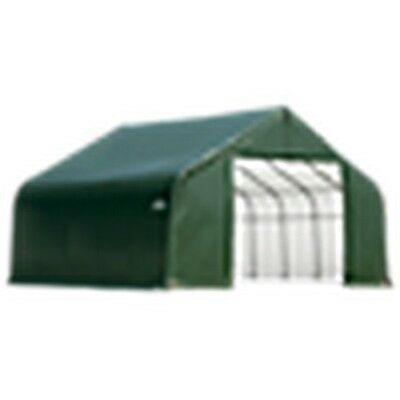 12X24X9 Barn Shelter, Green Cover New