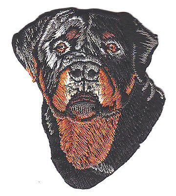 DOGS - ROTTWEILER FACE - PETS - ANIMALS -BEST FRIEND/Iron On Embroidered Patch