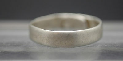Medieval Silver Band Ring With Contemporary Repair