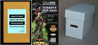 1 x Ultra Pro Comic Bag, Board and Short Box Combo (Current Size Comic Storage)