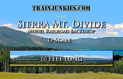 "Train Junkies O Scale ""Sierra Mountain Divide""  Backdrop 24x144"" C-10 Brand New"