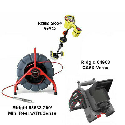 Ridgid 200' MINI Reel (63633) Seektech SR-24 Locator (44473) CS6X Versa (64968)
