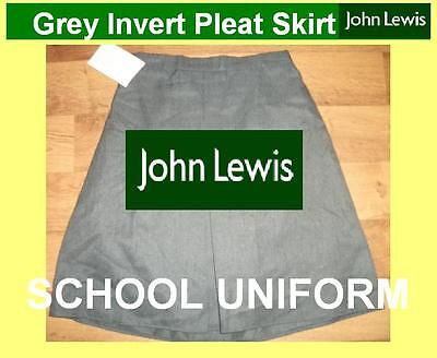 "Girls John lewis grey school skirt NEW age 9-10 waist 22-26"" RRP £9.00"