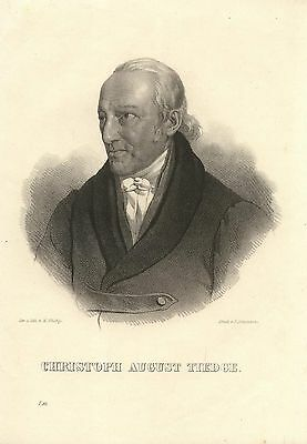 c1850 Christoph August Tiedge (1752-1841) Dichter Lithographie-Porträt