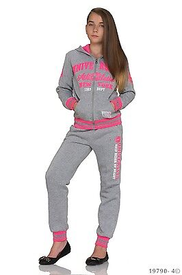 Girls Kids High Quality Jogging Suit Tracksuit Hooded Sets Age 10 Years