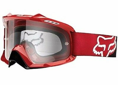 Fox Racing Airspace red/clear Anti Fog Clear Lens Motocross MX Goggle