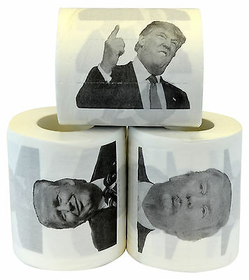 Donald Trump Novelty Funny Toilet Paper Gag Gift, Set of 3
