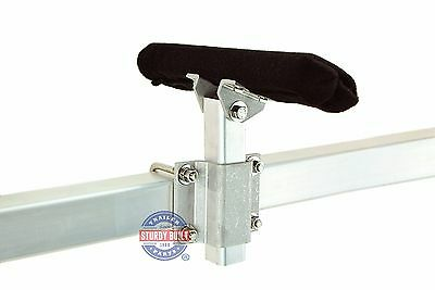 (4)- 10 Inch Aluminum Trailer Bunk Bracket Swivel Tops, Stainless Steel Hardware