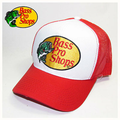 Bass Pro Shops Red Mesh Trucker Hat, Cap