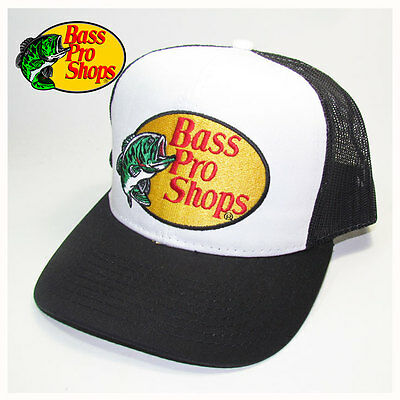 Bass Pro Shops Black Mesh Fishing Hat, Cap