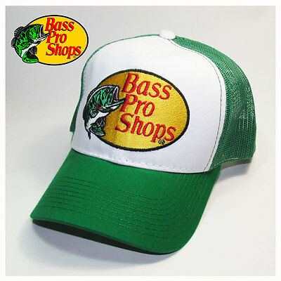 Bass Pro Shops Fishing Green Mesh Trucker Hat, Cap
