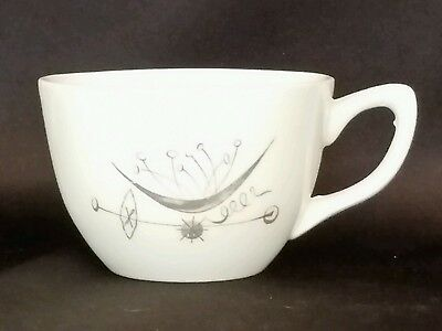 Vintage Paden City Pottery Calligraphy Pattern Coffee Cup