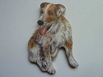 Rough Coat Jack Russell Terrier, Top Quality Dog Lead Hanger Great Gift.