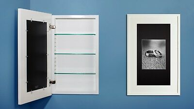 RECESSED MEDICINE CABINET w/ picture frame door, no mirror, white ...