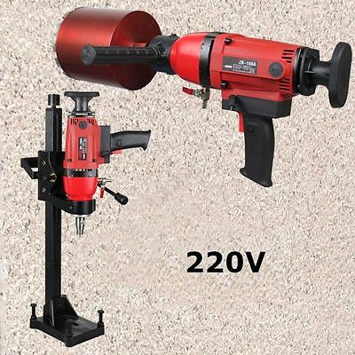 220V Diamond Core Drill Concrete Drllimg Machine With Stand Driller Building