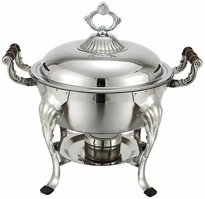 Winco Crown 5qt Round Chafer, S/S 708 New