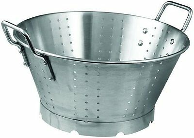 16qt Colander w/Hdls and Base, 16 Inch Bowl, Heavy-duty, S/S SLO-16
