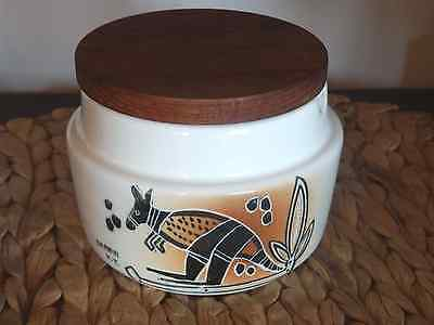 Vintage Studio Anna Hand Painted Darwin Kangaroo Theme LIdded Sugar Bowl