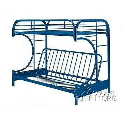 Acme Furniture 02091w Nv Eclipse Futon Bunk Bed Twin Full Navy New