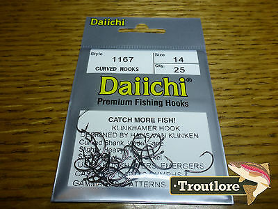 25 x DAIICHI 1167 #14 KLINKHAMER HOOKS for EMERGERS & DRY FLIES NEW FLY TYING