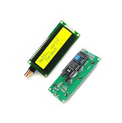 Yellow IIC/I2C/TWI/SP​​I Serial Interface 1602 16X2 Character LCD Module Display